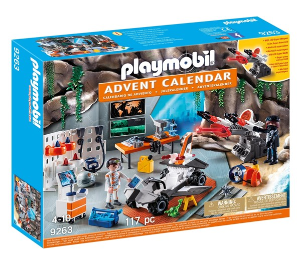 Adventskalender, Spy Team-verkstaden, Playmobil Top Agents (9263)