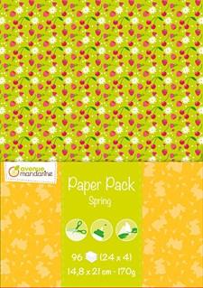 Designblock, Paper Pack, 96 ark A5 - Vår