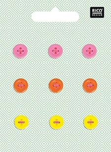 Nappi, Neon, sekoitus, 1 cm