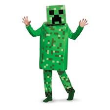 Minecraft Creeper, Maskeraddräkt Deluxe, Strl S