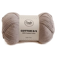 Adlibris Cotton 8/4 Garn 100g Light Grey A183