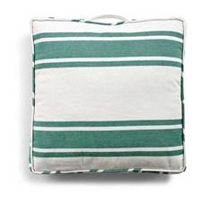 Day home Nordic Stripe Futon/ Sittdyna 100% Bomull 45 x 45 x 5 cm Virdis/ Vit