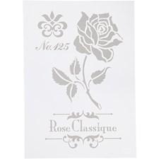 Stencil,  A4 , rose, 1stk.