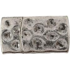 Magnetlås, str. 7x29 mm, hullstr. 3x10 mm, 1 stk., antikk sølv