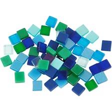 Mosaik Mini 5x5 mm Blå/Grön Harmoni 25 g