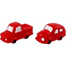 Minifigurer, H: 20 mm, L: 40 mm, röd, bilar, 2st.