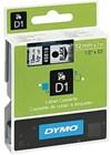 Teippi DYMO D1 12 mm musta kirkkaalla