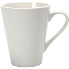 Posliinimuki, kork. 10 cm, halk. 5-8 cm, valkoinen, 1kpl