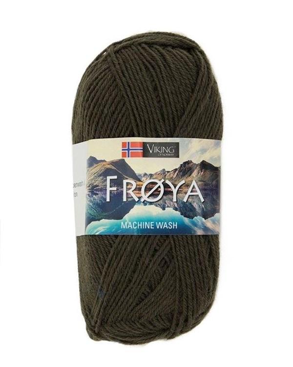 Viking of Norway Froya Garn Ullmix 50g Grön 256