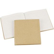 Muistikirja, koko 14x14 cm, ruskea, 1kpl