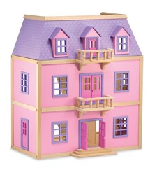 Dukkehus av tre, 3 etasjer, Melissa & Doug