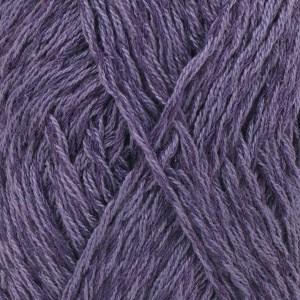 Drops, Belle Uni Colour, Garn, Bomullmiks, 50 g, Mørk lilla 19