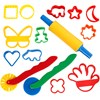 Formar och verktyg, mixade färger, stl. 3,5x3,5-7x9 cm, 15 st./ 1 förp.