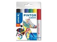 Pintor - Set Classic Mix -x6- Fine - Svart Blå Röd Grön Vit