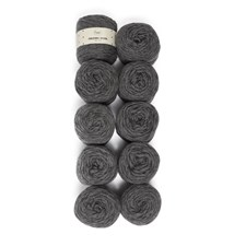 Adlibris Felting Wool 100g Dark Grey Melange A115 10 kpl