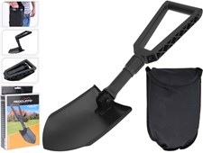 Sammenleggbar spade med veske