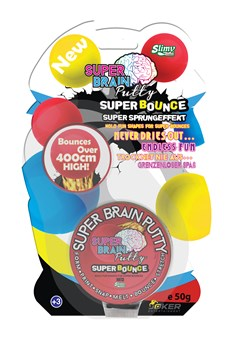 Super Bounce Red, 50 g, Slimy Super Brain Putty