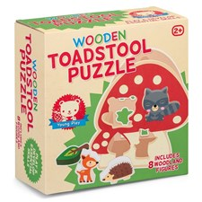 Formpuslespill, Wooden Toadstool Puzzle