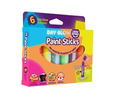 Paint Sticks Day Glow, 6 färger, Little Brian