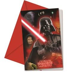 Star Wars Final Battle Inbjudningskort, 6 st