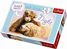 Valp og teddybjørn, Puslespill, 60 brikker, Trefl