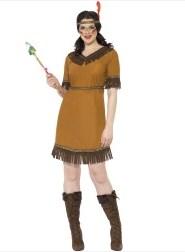 Kostyme Indiansk Jomfru