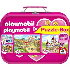 Playmobil Puzzle Box pink sisältää 2x60 palaa ja 2x100 palaa Schmidt