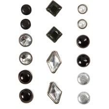 Koristeniitit, koko 8-18 mm, 16 laj., musta