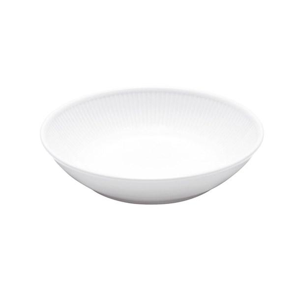 Pillivuyt Plissé Sallads- Pastatallrik Djup D  20 cm Vit