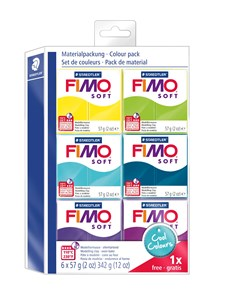 "FIMO® soft Colour-pakkaus ""Earth Colours"""