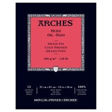 Arches -paperi öljyvӓrimaalausta varten 300 g 31x41 cm 12 ark (kylmӓpuristettu)