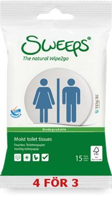 Sweeps moist toilet tissue, 15st