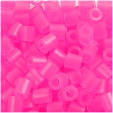 Rörpärlor 5x5 mm 6000 st Rosa Neon (30)