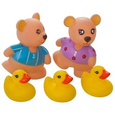 Teddybjörnar & ankungar för badet, 5 delar, Rätt Start