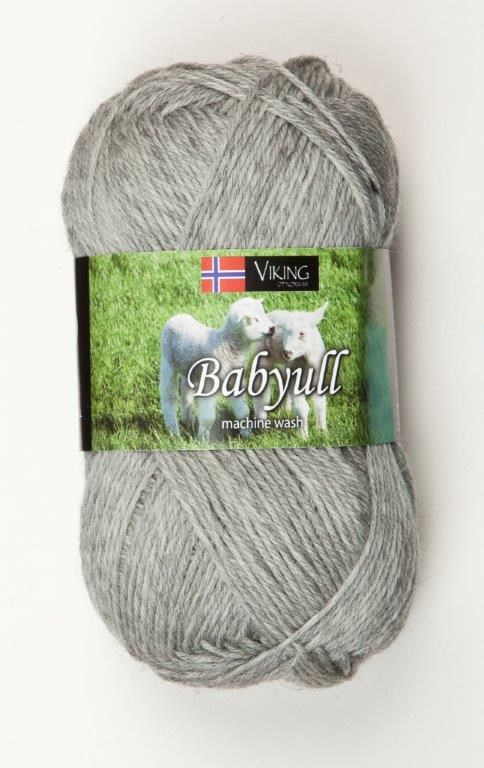 Viking of Norway Baby Ull Garn Merinoull 50g Ljusgrå 313