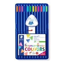 Ergosoft® träfärgpennor, Bonuspack 10+2