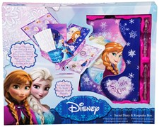 Disney Frozen Päiväkirja Lisätarvikkeilla