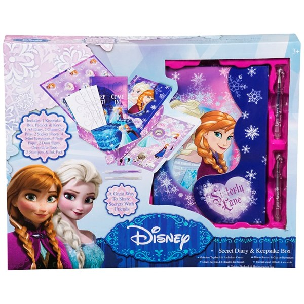 Dagbok i box med tillbehör  Disney Frozen - pyssel