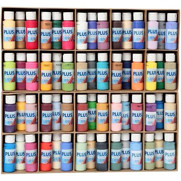 Plus Color hobbymaling, ekskl. display, 60x60ml