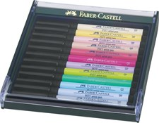 Soft Brush Pen Pitt Artist Faber-Castell 12-pack Pastellfärger