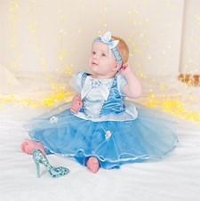 Deluxe kostyme, Askepott, 18-24 måneder, Disney Princess
