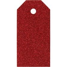 Pakettietiketit, koko 5x10 cm,  300 g, punainen, 15kpl