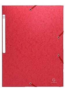 Gummibandsmapp 3-Klaffar A4 Röd