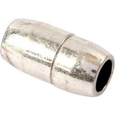 Magneettilukko, koko 10x20 mm, aukon koko 4 mm, 1 kpl, antiikkihopean väris