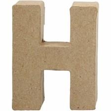 Bokstäver av Papier-Maché H 10 cm 1 st