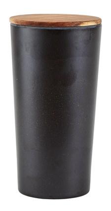 Villa Collection Säilytyspurkki Kannella 12 cm 1.6 L Bambu/Akaciapuu Musta