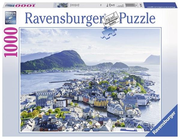 Ålesund Norge, Pussel 1000 bitar, Ravensburger