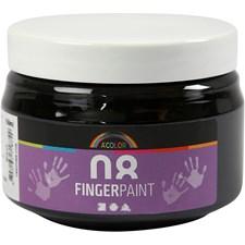 Fingerfärg 150 ml Svart