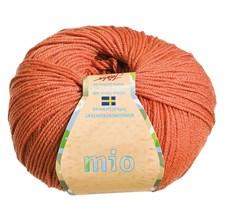 Mio Garn Merinoull 50g Terracotta Gul (30216)