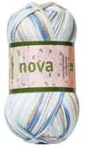 Nova 50gr Hvit/beige/blå print (48023)